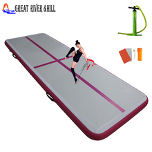 gymnastic training mat used for gymnastic sports with free pump and repair kit 10ftx3.3ftx4inch