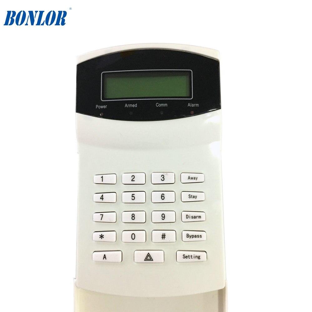 (1pcs) Free shipping  PSTN GSM SMS Alarm system LCD keypad   Alarm Control System Keypad  BR-016-G