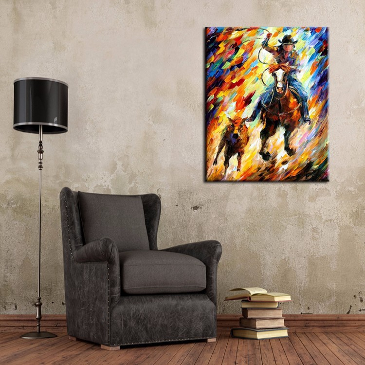 cowboy knife oil painting