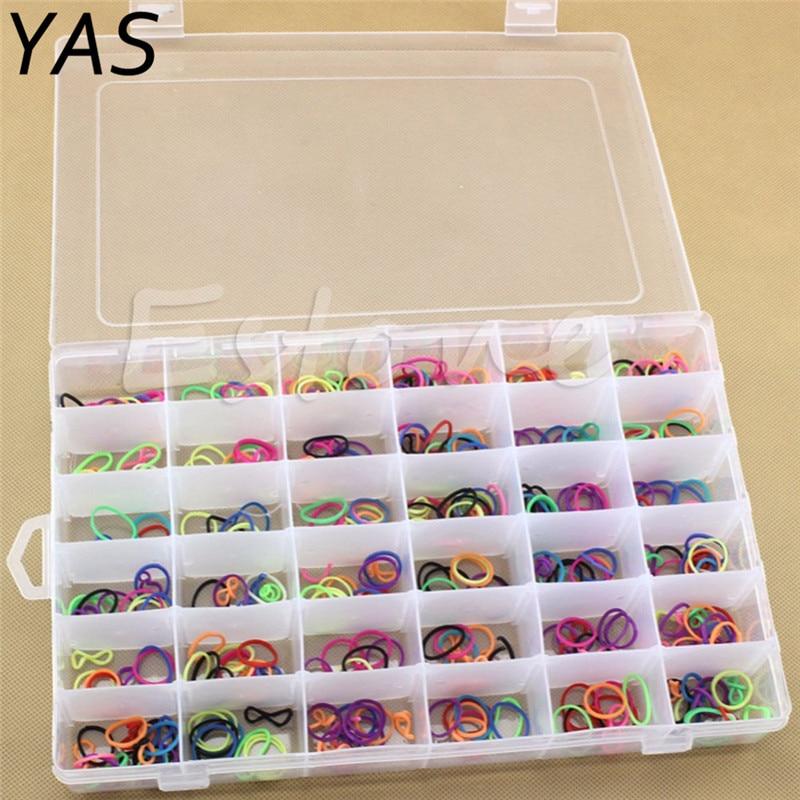 Nail Art Organizer: 36 Grids Plastic Opbergdoos Verstelbare Sieraden Tool Box