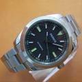 Hot sell 39mm Parnis Sapphire Crystal Black Dial with Green Marks Automatic Movement Wrist Watch