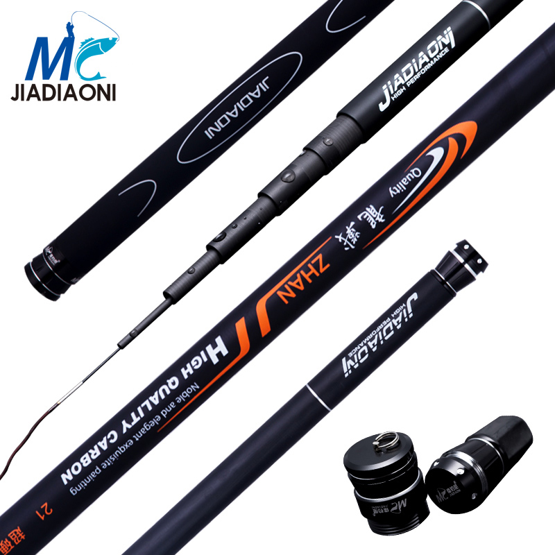 JIADIAONI Carp Fishing 99% Carbom 3.6m/4.5m/5.4m/6.3m Taiwan Fishing Rod China Hand Pole Telescopic Fishing Pole Fishing Sport полотенца pupilla полотенце nazar 50х90 см 6 шт