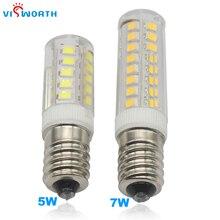 Mini E14 LED Lamp SMD2835 33PCS 51PCS 5W 7W Crystal Chandelier Pendant Refrigerator Light Replace Halogen AC 220V Corn Bulb цена 2017