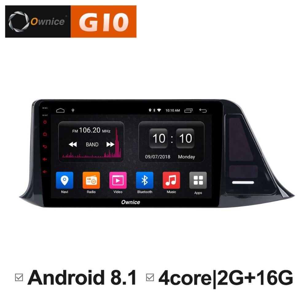 1024*600 Android 8.1 Quad 4Core 2GB RAM+16GB ROM Car DVD Player for Toyota CH-R 2016 2017 GPS Navi Radio Stereo BT WIFI TPMS цена