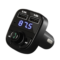 Bluetooth Car Kit FM Transmitter MP3 Player With LED Dual USB 4 1A Quick Charger Voltage