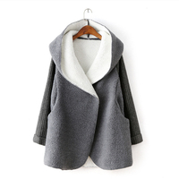 2019 New Winter Women's Casual Sweater Cardigan Clothes Deep Buckle Loose Sheep Female Knitwear Thick Long Sweater Trend