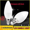 Бесплатная Доставка! 1 Шт./лот СВЕТОДИОДНЫЕ Свечи Лампы накаливания Свет 2835SMD Высокое Brightnes 5 Вт E14 AC220V 230 В 240 В Холодный Белый/теплый Белый