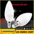 Free Shipping! 1PCS/Lot LED Candle Light 2835SMD Bulb Lamp High Brightnes 5W E14 AC220V 230V 240V Cold White/Warm White