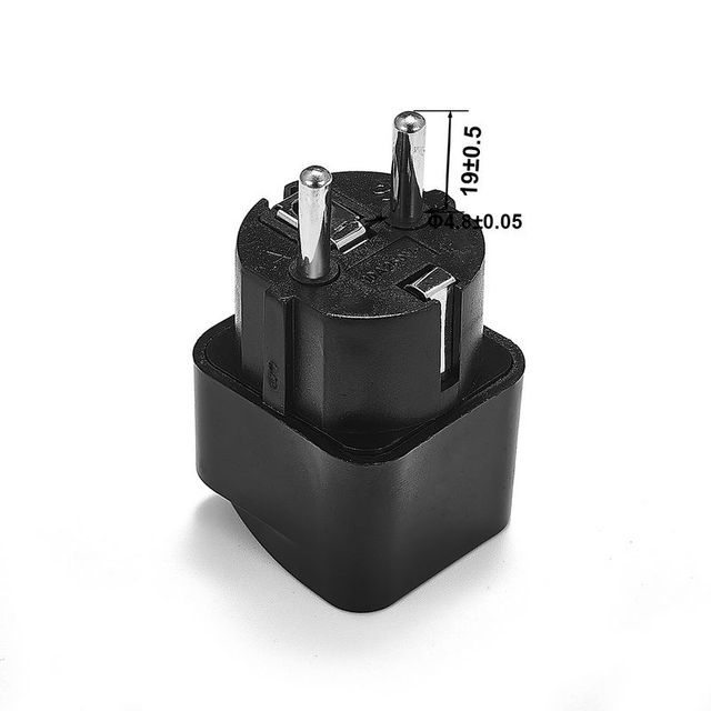 1 pièces adaptateur de prise universel ue International AU royaume-uni états-unis à l'ue Euro KR adaptateur de voyage prise électrique convertisseur prise de courant 3