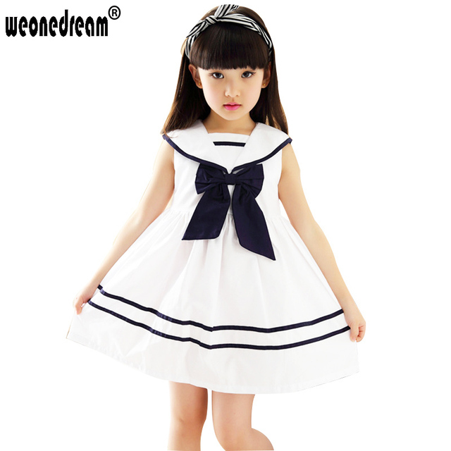 c34b004c8 WEONEDREAM 2017 Summer Girls Dress Children Sleeveless Bow Japanese ...