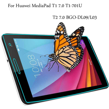 9H HD Tempered Glass membrane For Huawei Mediapad T1 7.0 T1-701 T1-701U T1-701W T2 7.0 BGO-DL09 BGO-L03 Screen Protector Film premium tempered glass screen protector for huawei mediapad t1 7 0 t1 701 t1 701u t1 701w 7 inch tablet protective glass film