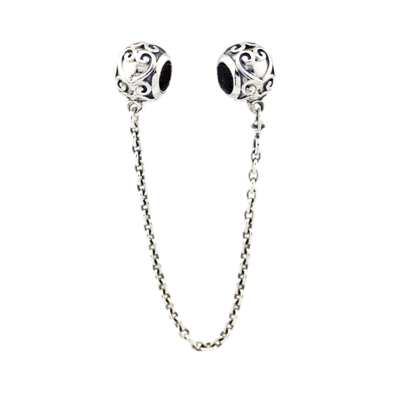 Pandulaso Spring Enchanted Heart Safety Fit Silver 925