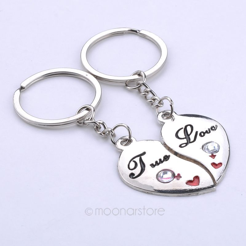 Detail Feedback Questions about Couple 2 x Lovers  Peach Hearts Keychain  Ring Keyring Key Chain Lover Romantic Creative Birthday Gift FYMPJ519 on ... fe95d12d6