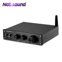 2020 Nobsound HIFI Bluetooth 5.0 เครื่องขยายเสียงดิจิตอลสเตอริโอ Home Audio 200W TREBLE & BASS Control
