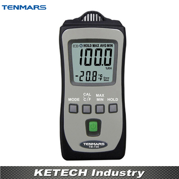 Handheld Industrial Thermometer Hygrometer Meter Wet bulb and Dew point Tester TM730
