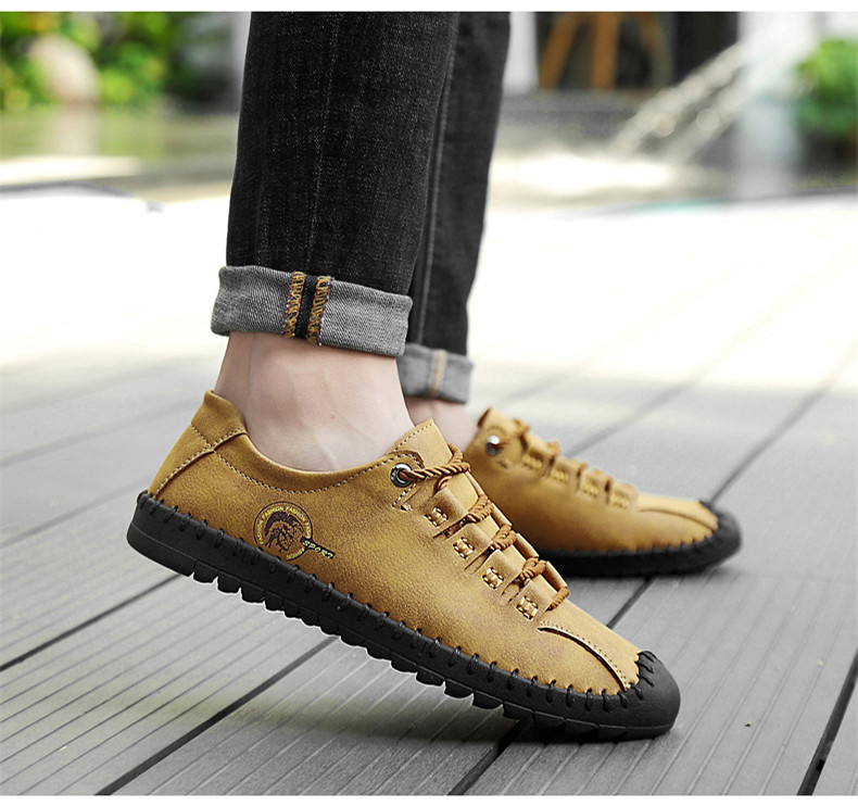 HTB1VO4aaynrK1Rjy1Xcq6yeDVXaR - 2019 New Fashion Leather Spring Casual Shoes Men's Shoes Handmade Vintage Loafers Men Flats Hot Sale Moccasins Sneakers Big Size