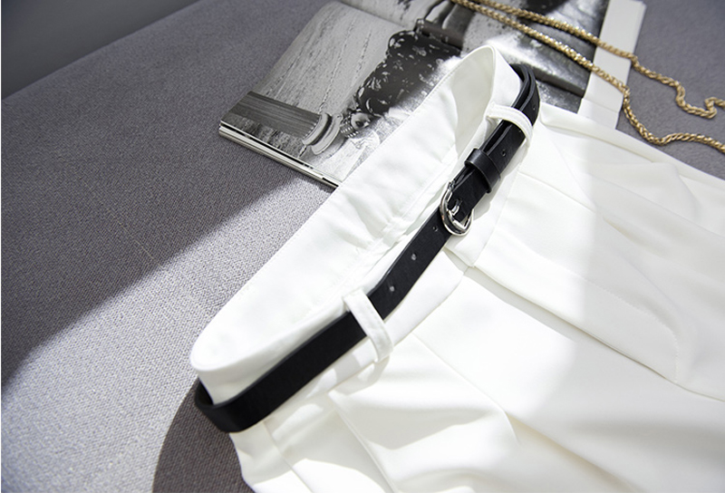 BGTEEVER OL Style White Women Pants Casual Sashes Pencil Pant High Waist Elegant Work Trousers Female Casual pantalon femme 16