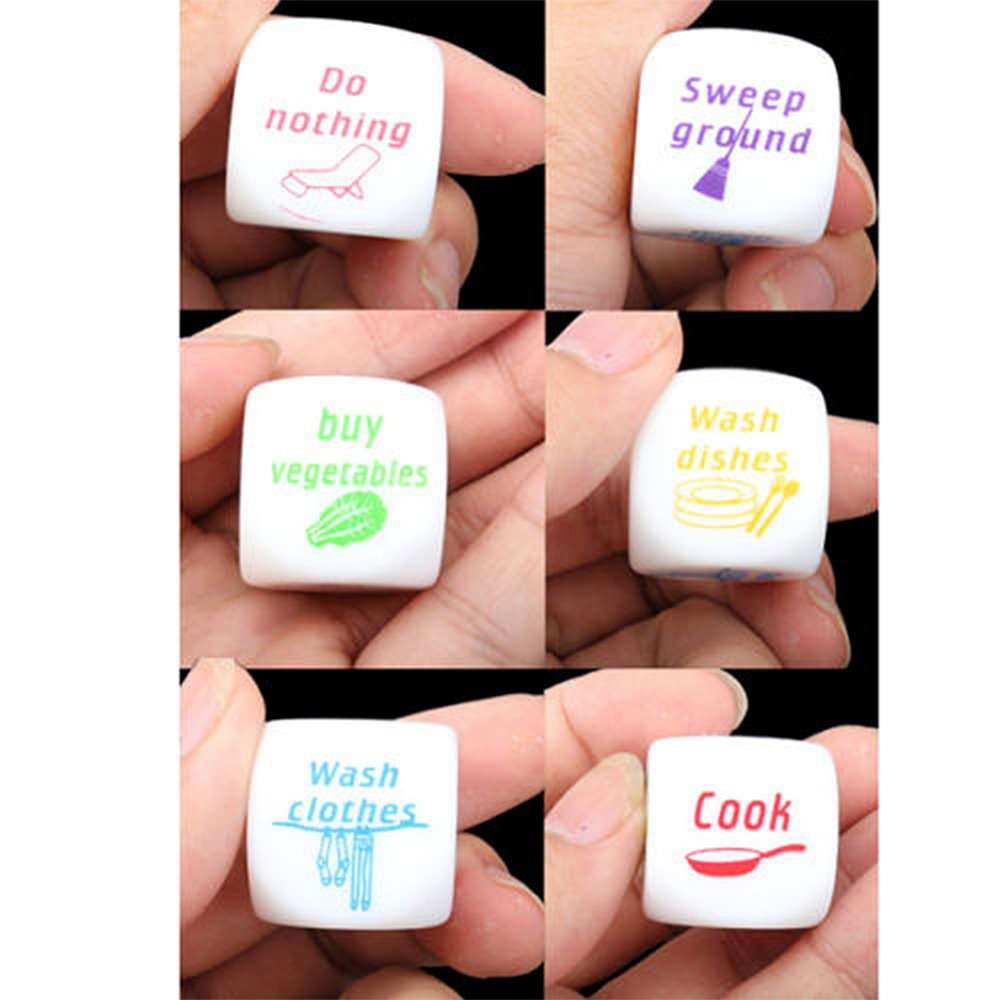 Funny Couples Families Housework Distribution Dice Fun Game ...