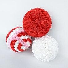 Продукт розы искусственный цветок стены свадебный цветок розы для декорирования шар