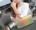 Limited 3C Hologram leatherette Ladies women Wallet  zipper around Purse Clutch Fashion handbag Bolsa