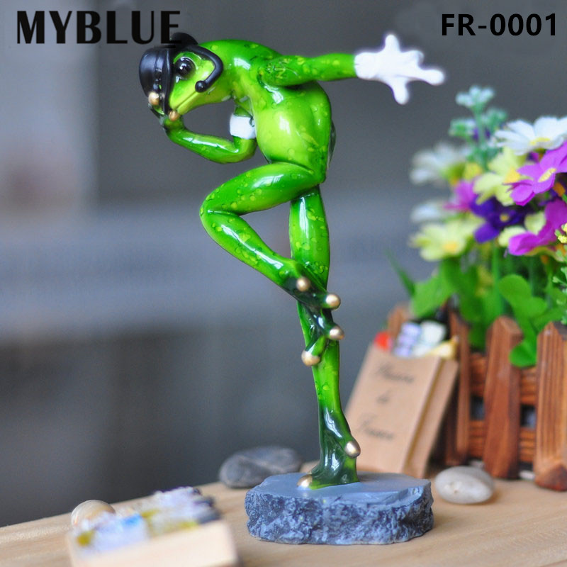 MYBLUE Kawaii Artificial Michael Jackson Dancing Frogs Resin Figurines Home  Sculpture Decor Decorations Accessories Gifts Crafts 2f2d4a0a65ec