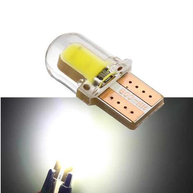 1 pièces LED W5W T10 194 168 W5W COB 8SMD LED ampoule de stationnement Auto cale dégagement lampe CANBUS silice blanc brillant licence ampoules