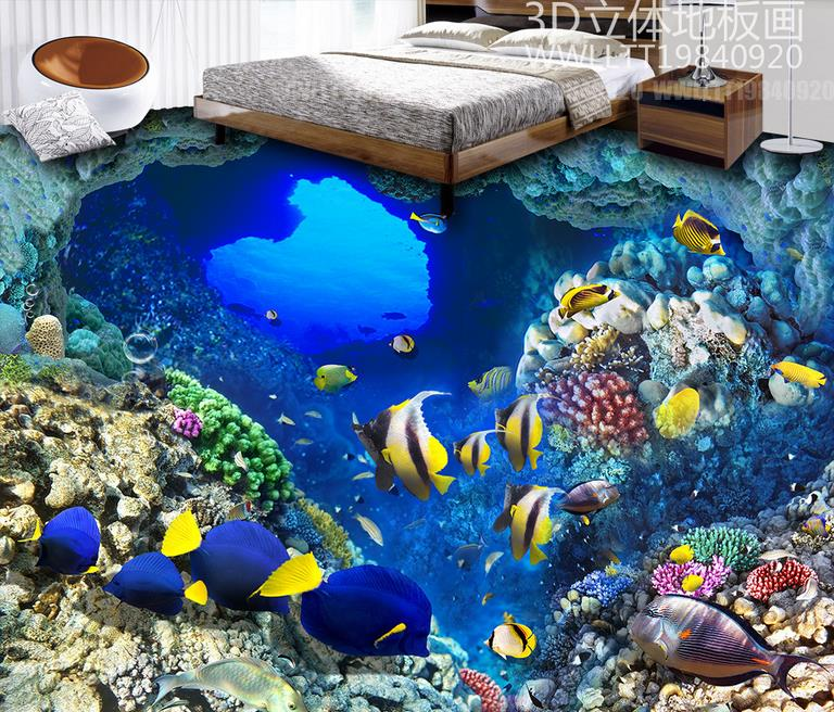 customize 3d flooring Cave Fish wallpaper for walls 3 d wallpapers for living room vinyl flooring Decorative paintings