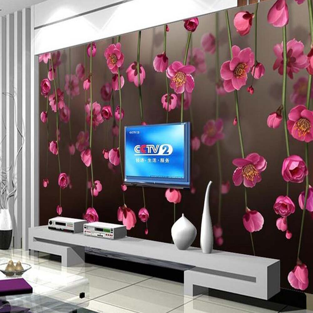 Japanese 3D Wallpaper Cherry Blossom Photo Murals Flower HD Wall Paper Living Room Landscape Floral Wall Papers Custom