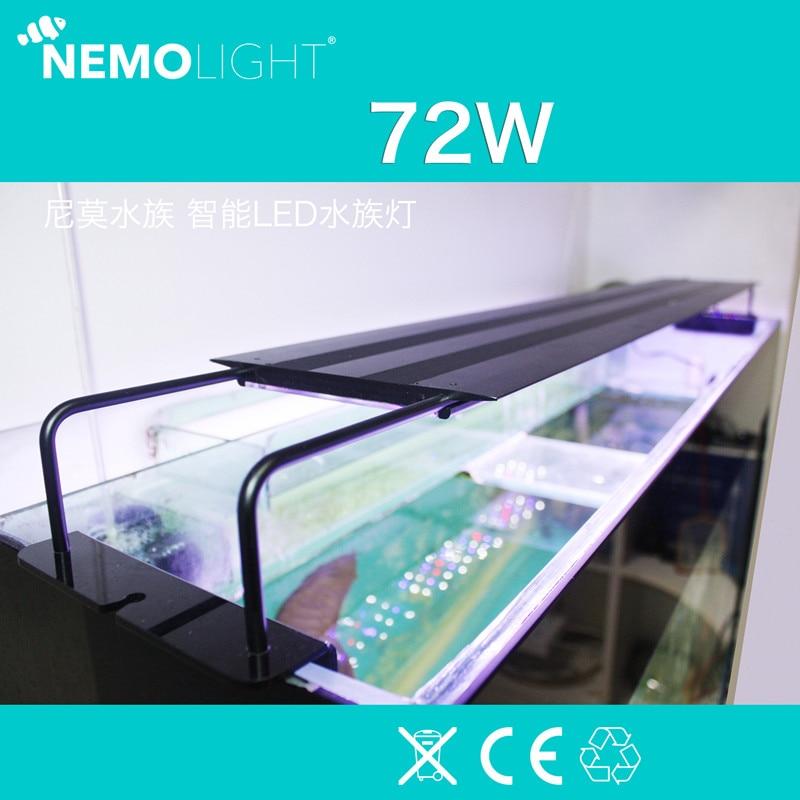 72W 110 240V Nemolight intelligent program control LED Nemo Planted aquarium Coral lamp Suitable for 1200