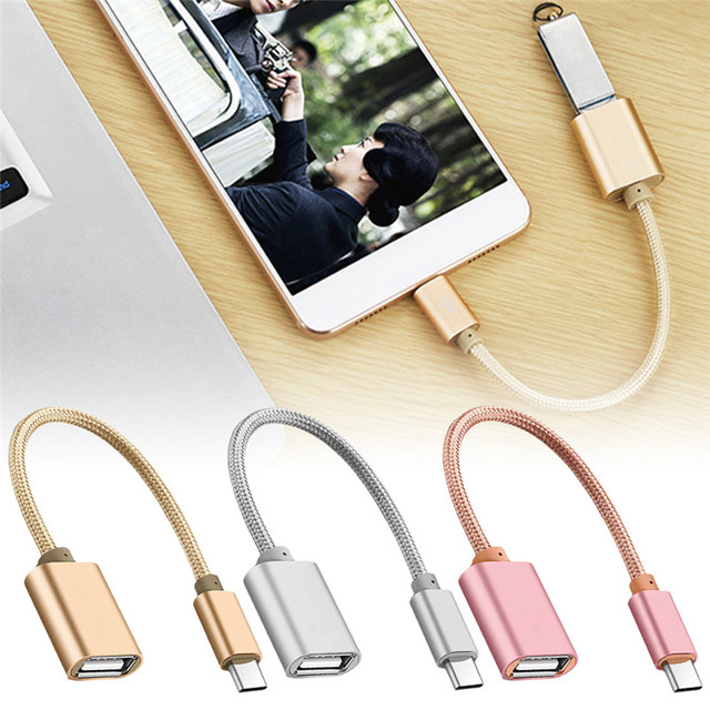 USB C Adapter OTG Cable Type C To USB 2.0  OTG Type-C Adapter For Samsung HUAWEI Xiaomi  MacBook USBC OTG