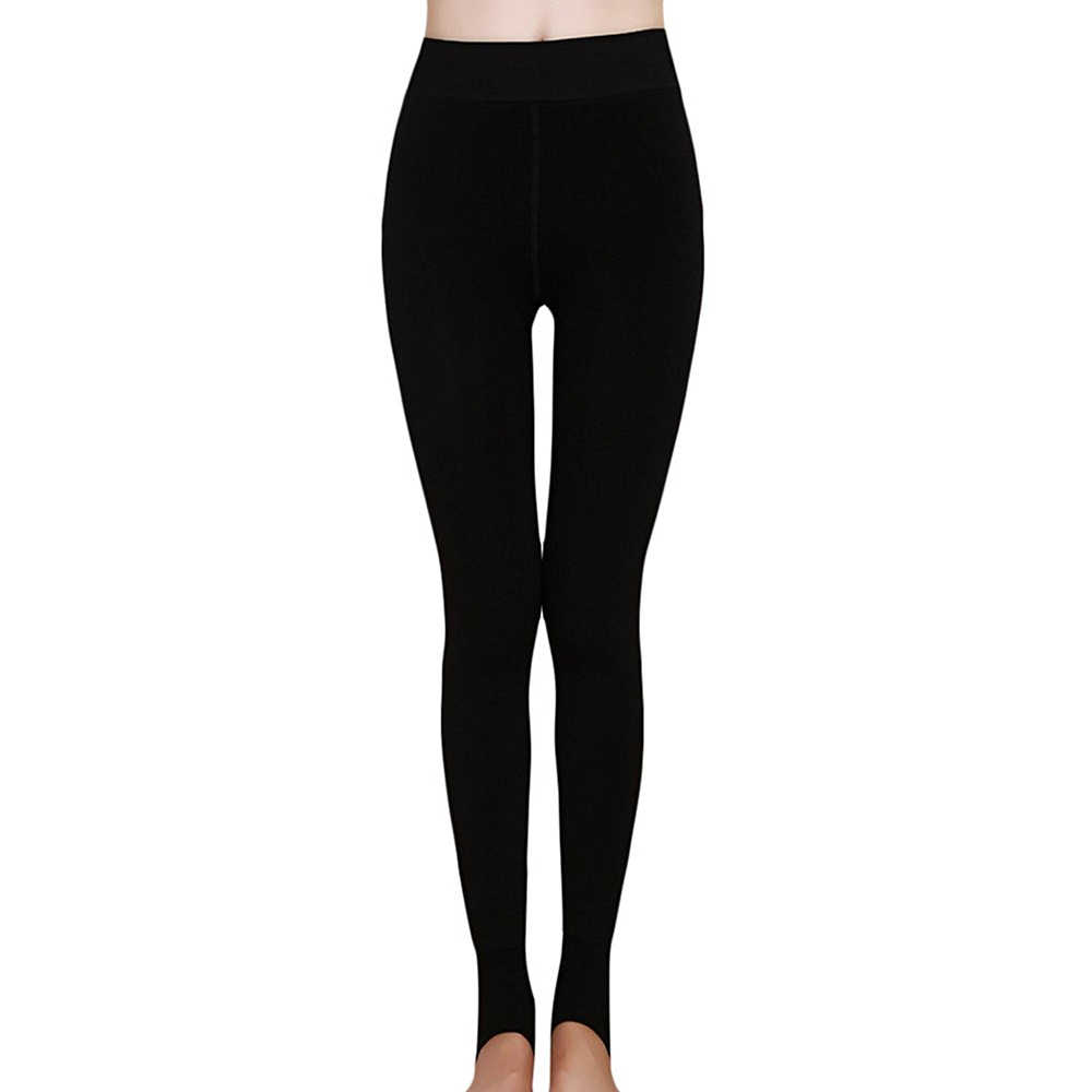 8b36344bbca2 Women's Winter Thick Warm Fleece Lined Thermal Stretchy Leggings Pants