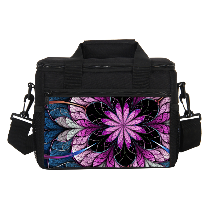 VEEVANV Thermal Floral Printing Mens Lunch Bag Cooler Insulated Lunch Bag Women Lancheira Thermo Lunch Box Food Picnic Handbags