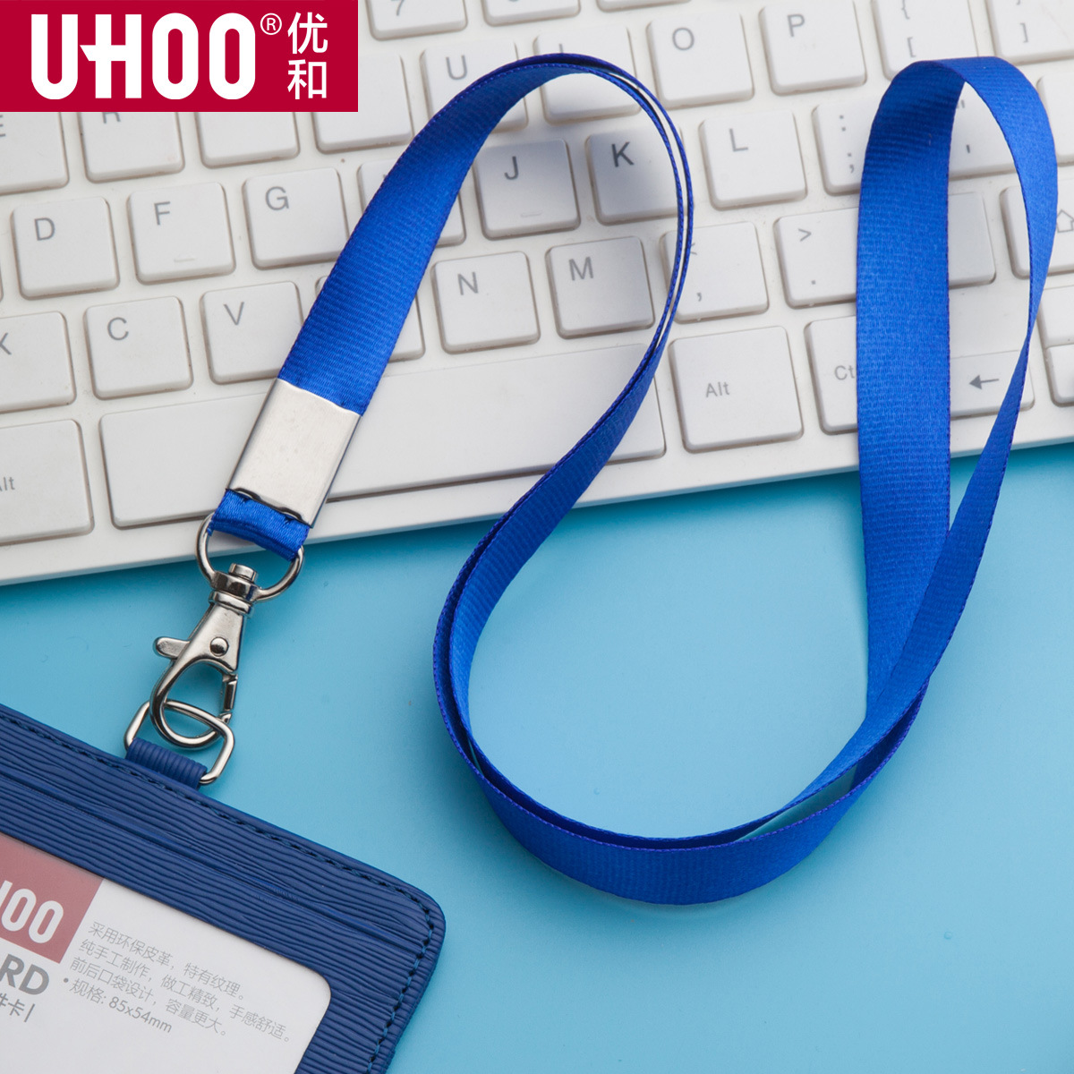 1 Pz Ispessisce colore Puro Portachiavi per le chiavi della Carta di IDENTIFICAZIONE Palestra Mobile Cinghie del telefono USB porta badge FAI DA TE Hang Rope Lariat Cordicella JZ44