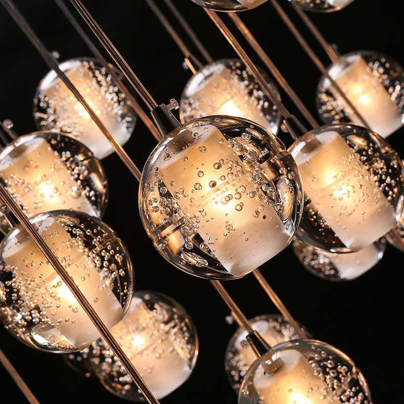 3/7/14 PCS 100MM Bar Rain Star LED Pendant Crystal Glass Ball Lamp Shower Chandelier Light Lighting Christmas Decoration fashion crystal glass ball pendant lamp meteor rain light meteoric shower stair bar droplight chandelier lighting led g4 bulb