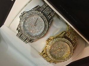 Image 4 - Роскошные женские часы, модные женские Стразы, часы с австрийским кристаллом, керамические часы, женские кварцевые наручные часы, женские часы под платье