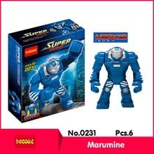 Decool 0231 6Pcs Super Heors Series Marumine Model Building Diamond Blocks Bricks Set Action Figure Toys with Children Toy