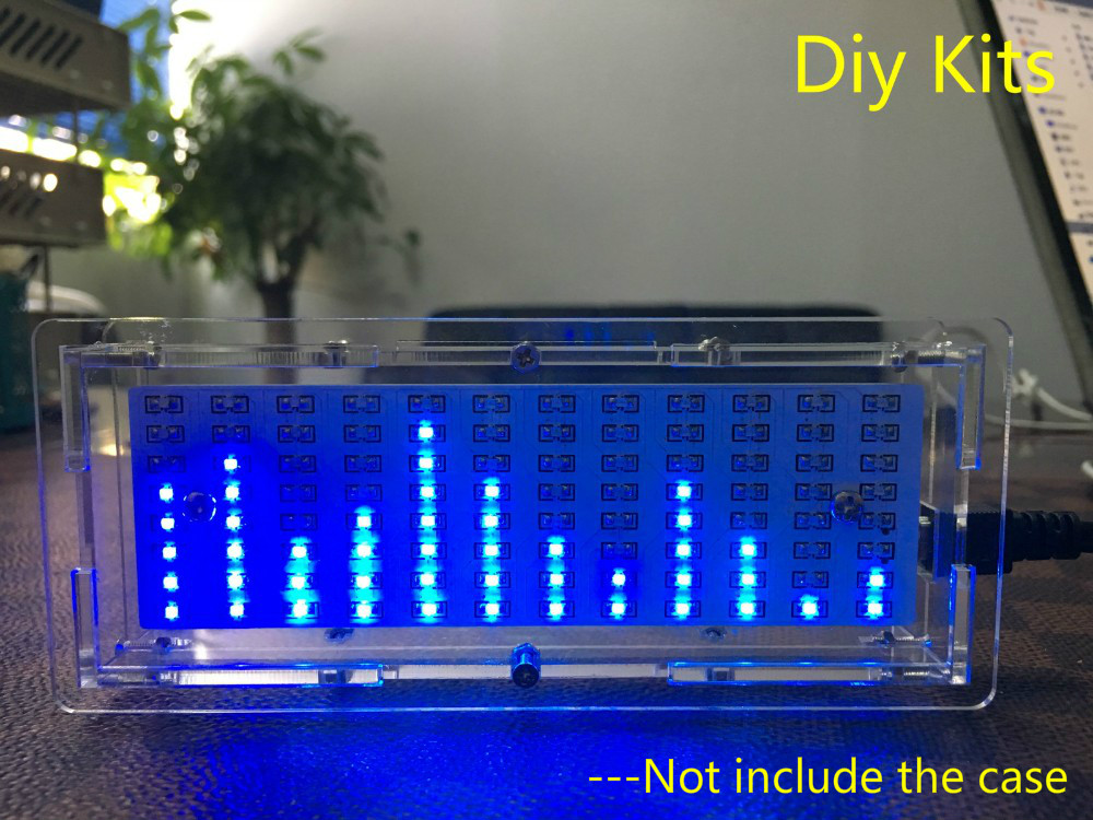Singlechip LED Music Spectrum Analyzer Audio Level Indicator MP3 PC Amplifier Indicator Module Diy Kits