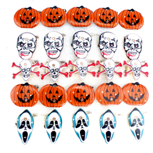 5pcs children cute led flashing light up brooch halloween decoration pumpkin skull kids toys party games