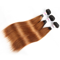 Megalook Pre Colored Peruvian Straight Human Hair Bundles Honey Blonde Ombre T1b30 Remy Hair Weave Bundle Hair Extensions