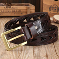 Handmade sashes mens belts luxury braided Girdle women jeans solid brass full grain genuine leather belt male designer strap men