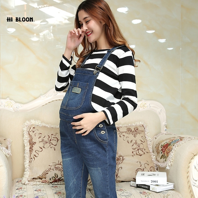 c0a14e8a9e9 Maternity Jeans Pants For Pregnant Women Clothes TrousersProp Dungarees  Belly Legging Pregnancy Clothing Bib Overalls Trounsers