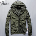2017 Autumn Winter Ultralight Bomber Jacket Men Casual With Hood  Jacket Long Sleeve Zip Pocket Coat Male hc29