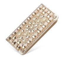 Rhinestone Women Wallets Purse Lady Card Holder Crystal Day Clutch Wallet Wedding Purse Female Wallets party TYG186