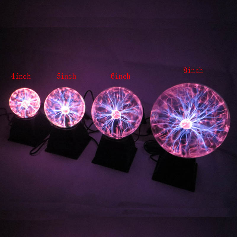 6 /5 /3 inch Plasma Ball Sphere Lamp Magic Plasma Globe Electric ...