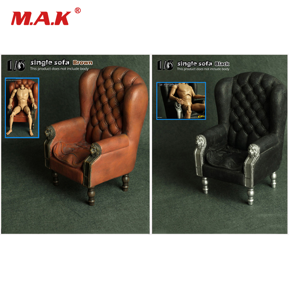 Retro 1/6 Scale  Single Sofa Armchair Couch Model Toys Collection Gift S001/S002 For 12 Action Figure Accessory