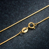 a3bde82944b48 Pure Yellow Gold Chain Necklace Little O Link