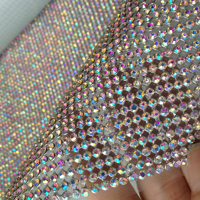 3cm*120cm Ab Color Bling Rhinestone Sticker Sheet Luxurious Phone Case Self Adhesive Scrapbooking Sticker Shoes Decoration