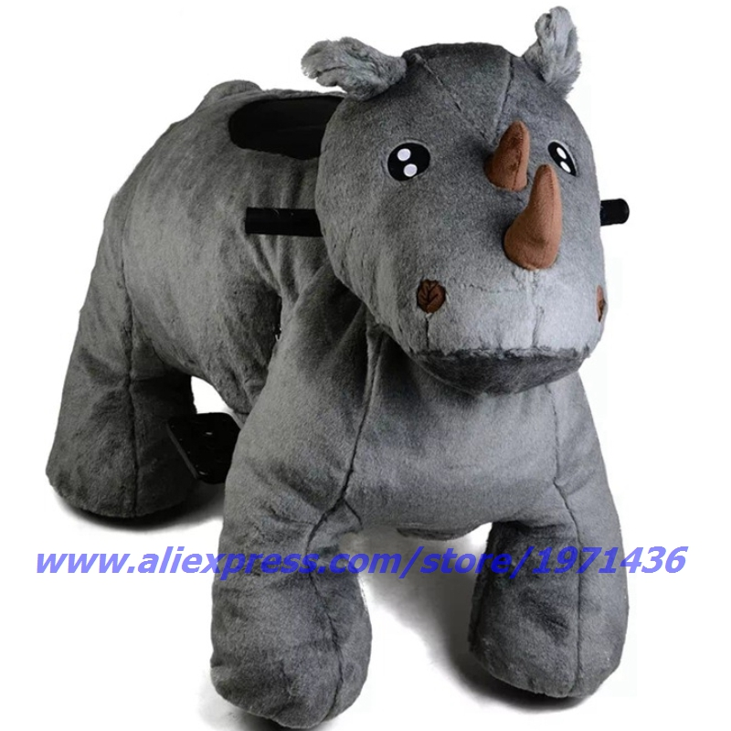 NYST Remote Control Coin Operated Electric Plush Animal Ride On Toys