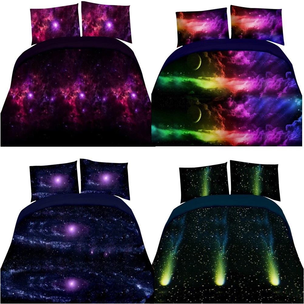 4 unids/set Impresión 3D Duvet Cover Set Lavable Fundas Sky Bedding Set Cielo So