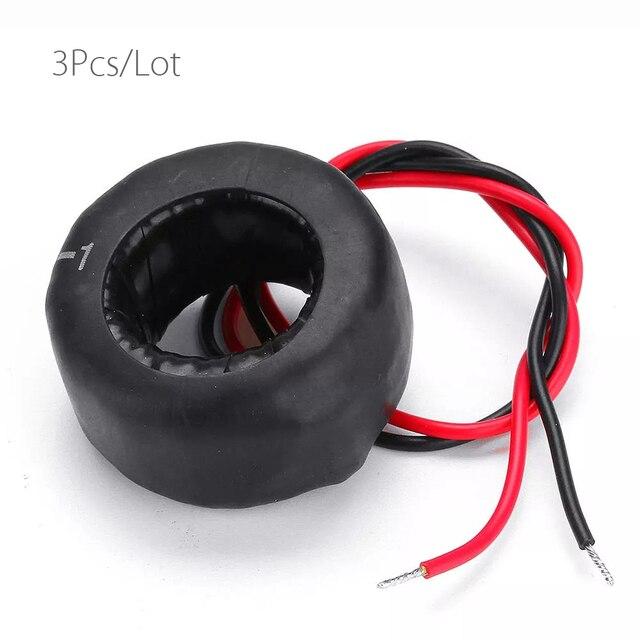 3pcs דיוק AC הנוכחי שנאי סליל PZCT 50A/50mA עבור כוח לוח מד צג כוח אנרגיה מד מתח מד זרם